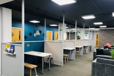 communal work space in serviced office in dudley