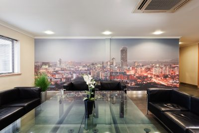reception area at manchester east offices