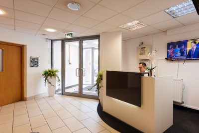 dudley serviced offices reception area