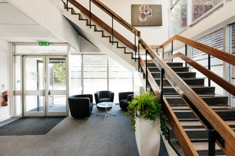 hull serviced office stair case
