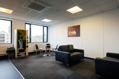 open plan seating space at liverpool serviced offices