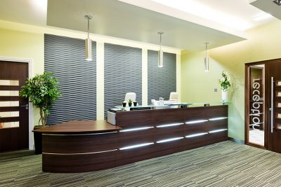 reception area at burnley north offices