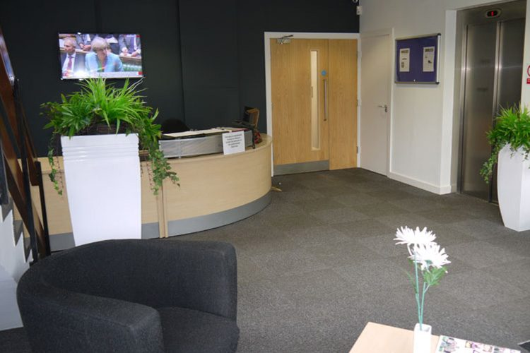 reception area at hull offices