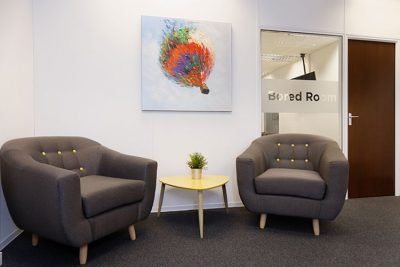 seating area in leeds serviced offices