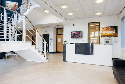 reception area at liverpool serviced offices