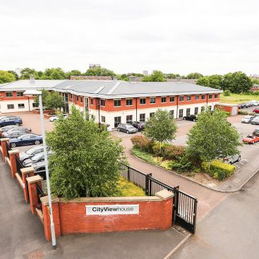 aerial view of manchester east serviced offices