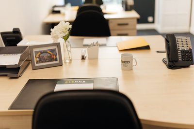 close up of desk at teesside serviced offices