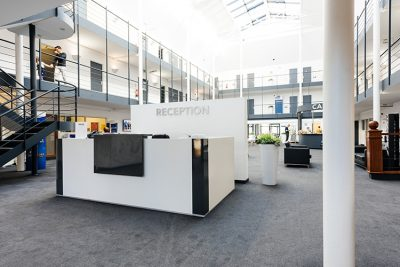reception at teesside serviced offices