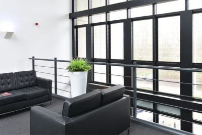 teesside offices seating area couches