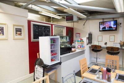 barnsley industrial unit inside view of refreshment area
