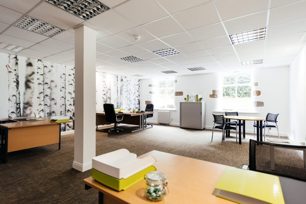 burnley house lodge serviced office open plan